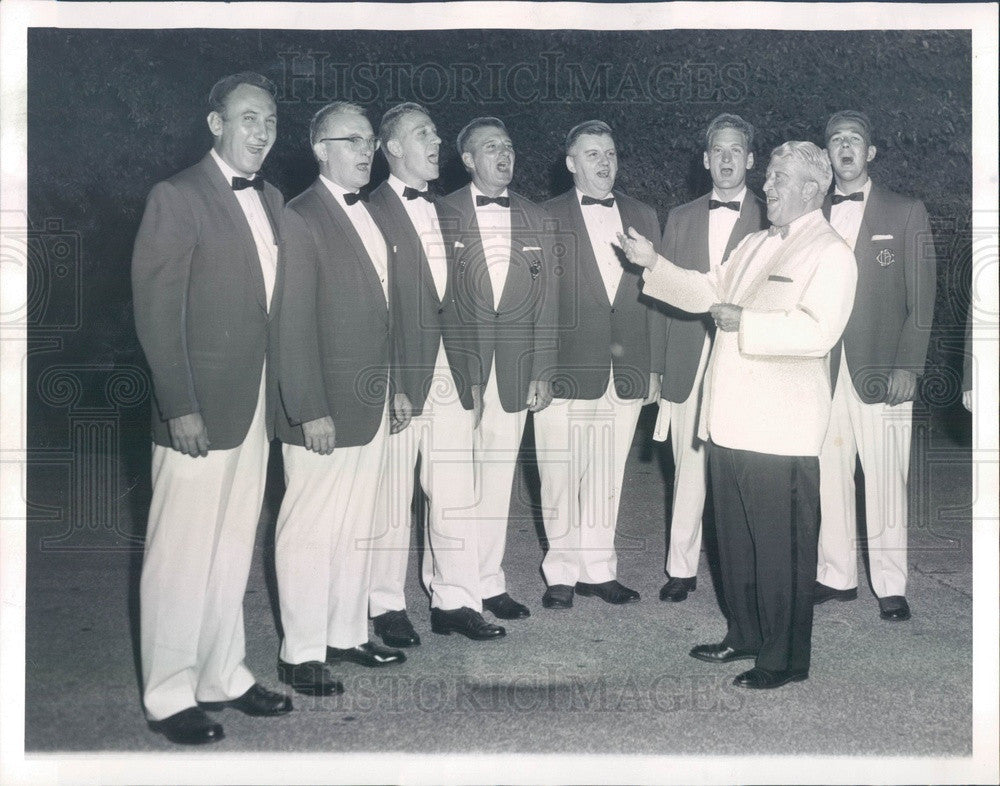 1960 Chicago, Illinois Fire Dept Glee Club with Director Harry Walsh Press Photo - Historic Images