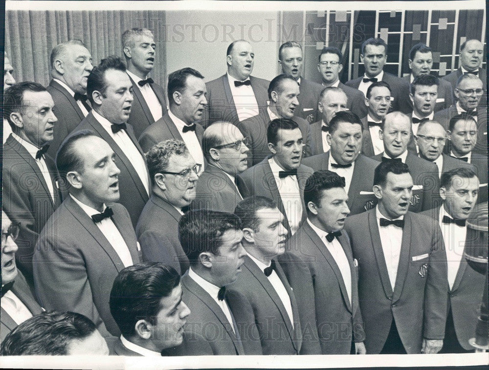1965 Chicago, Illinois Fire Dept Glee Club Press Photo - Historic Images