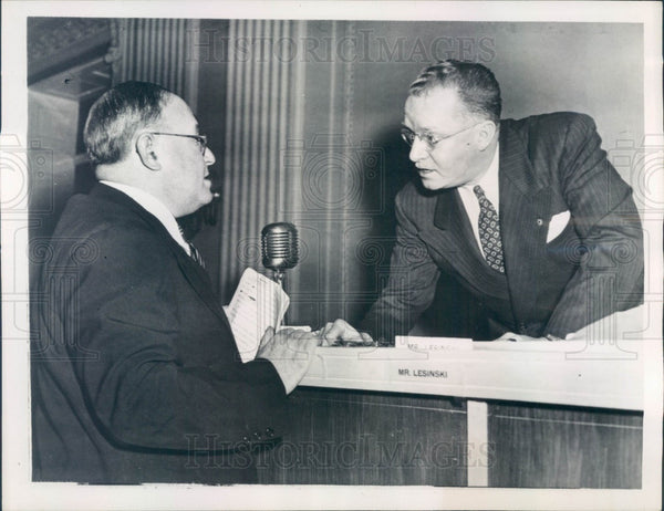 1947 US Rep Fred Hartley Jr of NJ, David Stern, Philadelphia Record Press Photo - Historic Images
