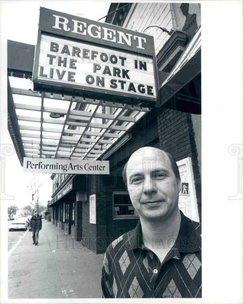 Undated Arlington, MA Regent Theater Exec Director Richard Stavros Press Photo - Historic Images