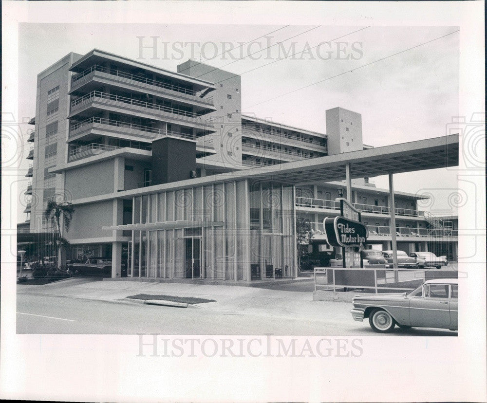 Undated St. Petersburg, Florida Tides Motor Inn Press Photo - Historic Images