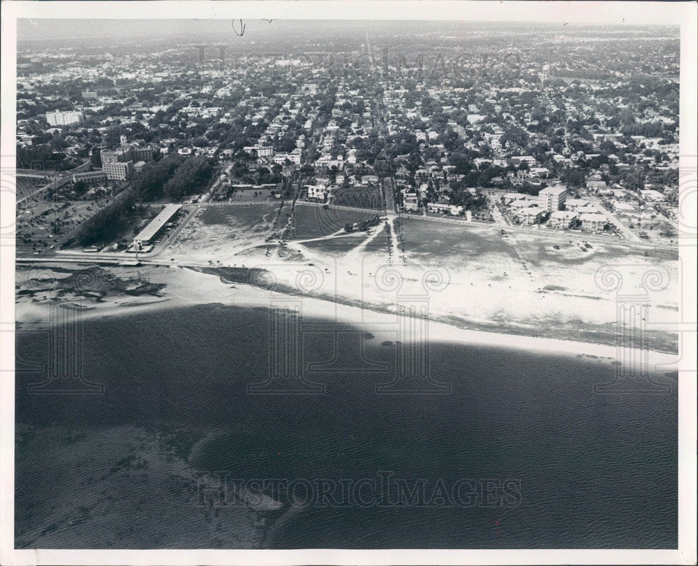 1962 St. Petersburg, Florida North Shore Beach Aerial View Press Photo - Historic Images