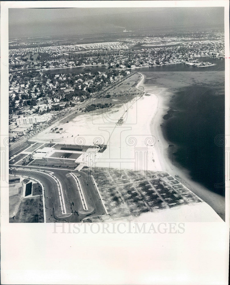 1965 St. Petersburg, Florida North Shore Beach Aerial View Press Photo - Historic Images
