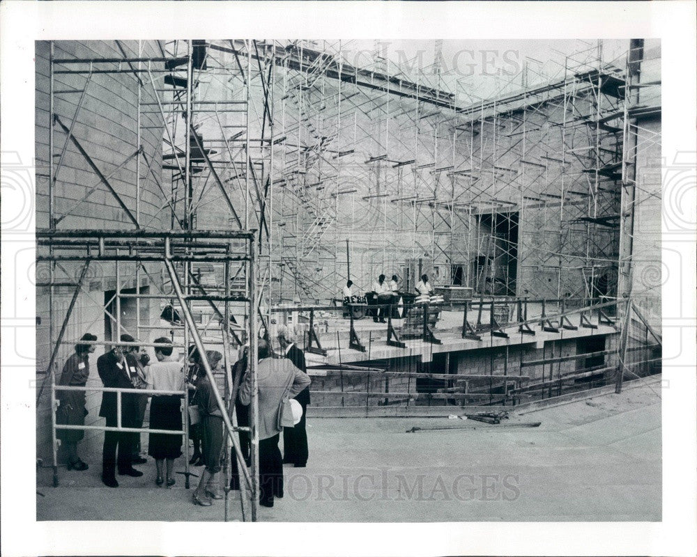 1982 Clearwater, FL Performing Arts Center and Theater Construction Press Photo - Historic Images