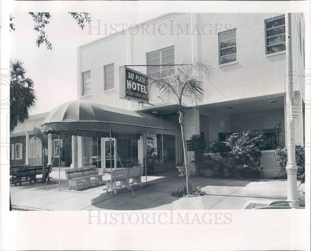 1967 St. Petersburg, Florida Bay Plaza Hotel Press Photo - Historic Images