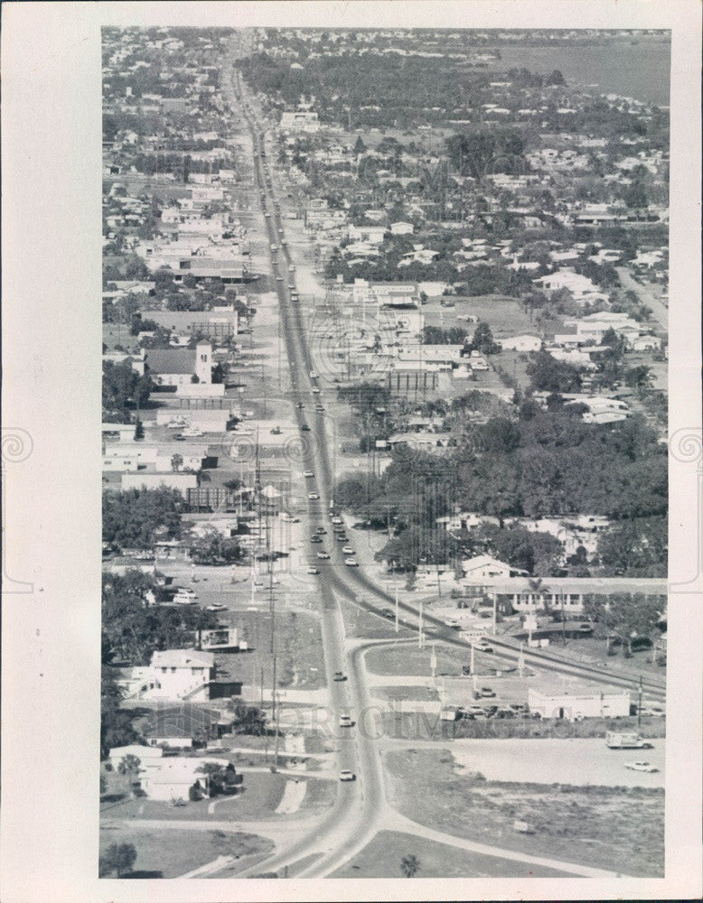 1968 St. Petersburg, FL US Alt 19/Bay Pines Intersection Aerial View Press Photo - Historic Images