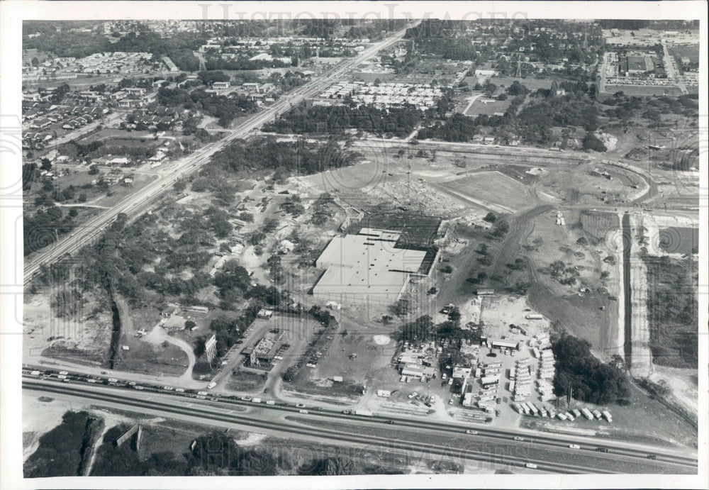 1984 Clearwater, FL Bay Area Outlet Mall Construction Aerial View Press Photo - Historic Images
