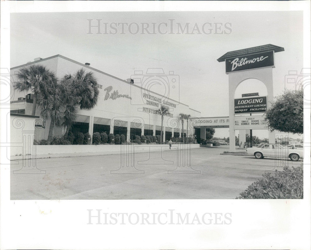 1985 New Port Richey, Florida Biltmore Hotel Press Photo - Historic Images