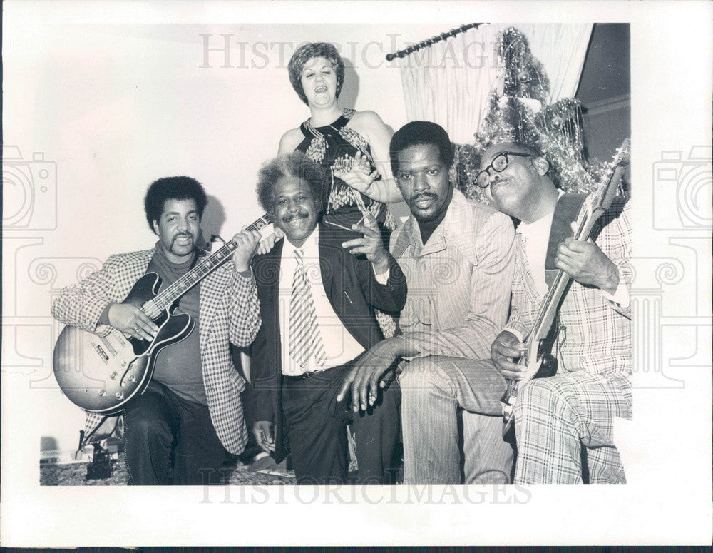 1977 Musical Group The Ink Spots, Peter Jusha, Charles Ward Press Photo - Historic Images