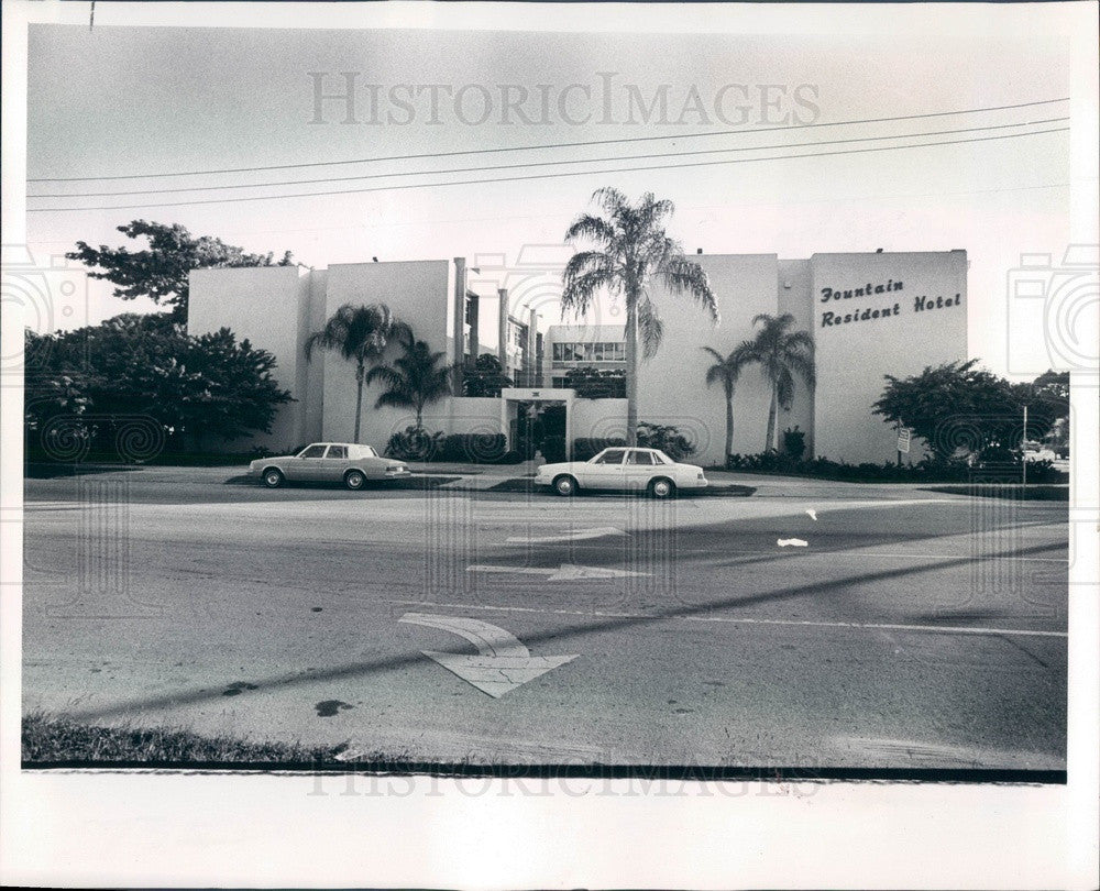 1980 St. Petersburg, Florida Fountain Resident Hotel Press Photo - Historic Images