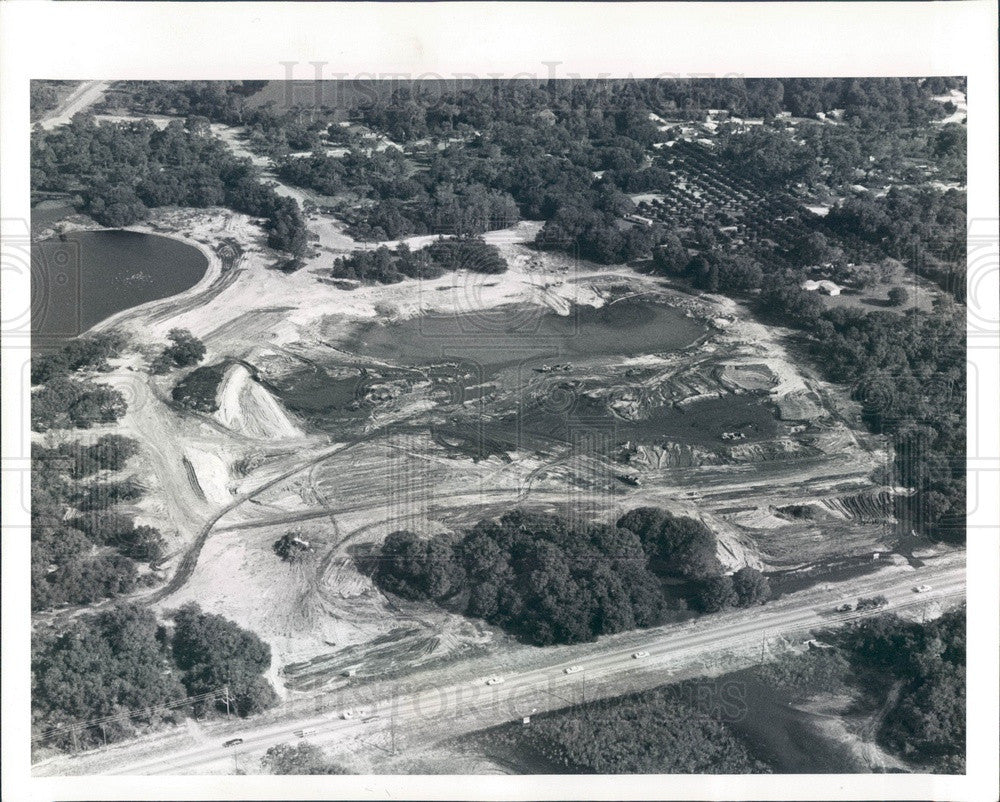 1982 New Port Richey, FL Crane's Roost Development, Plaza Dr Aerial Press Photo - Historic Images