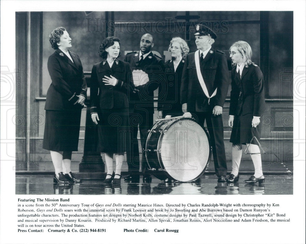 Undated Scene from 50th Anniversary Tour of Guys and Dolls Press Photo - Historic Images