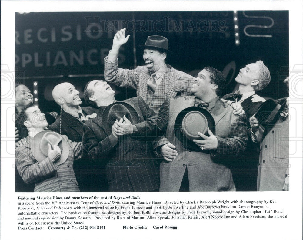 Undated Actors Maurice Hines & Cast in Guys and Dolls Press Photo - Historic Images