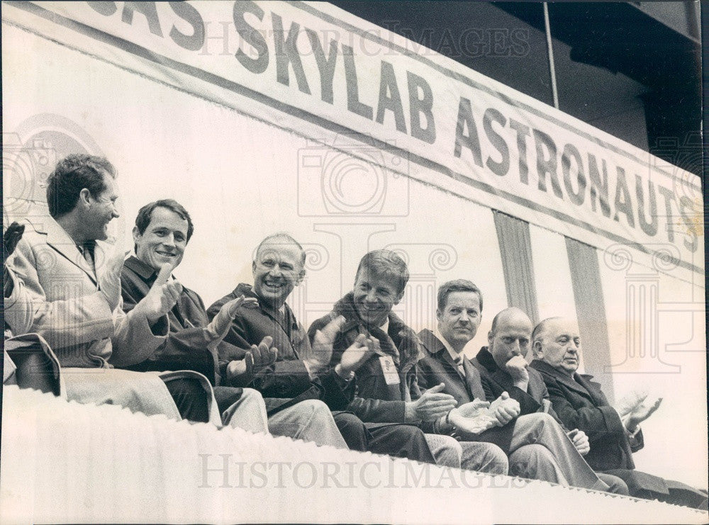 1974 Skylab Astronauts William Pogue, Edward Gibson, Gerald Carr Press Photo - Historic Images
