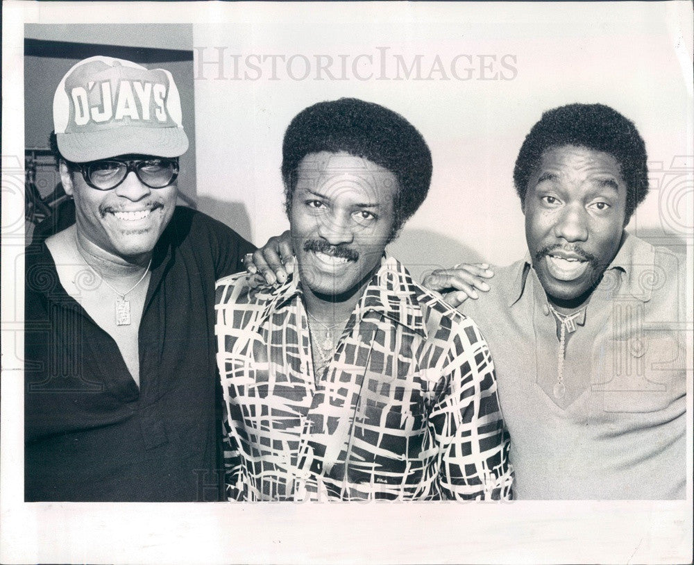 1977 R&B/Soul Musicians The O'Jays, Walter Williams, Eddie Levert Press Photo - Historic Images