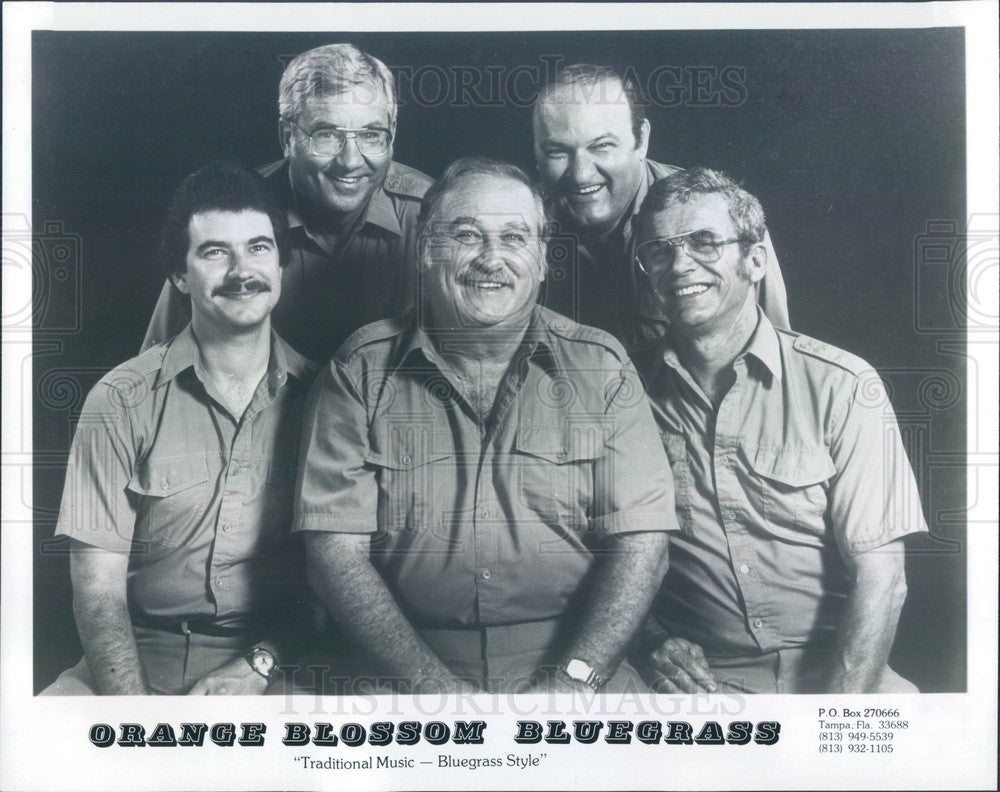 1984 Tampa, FL Bluegrass Band Orange Blossom Bluegrass Press Photo - Historic Images