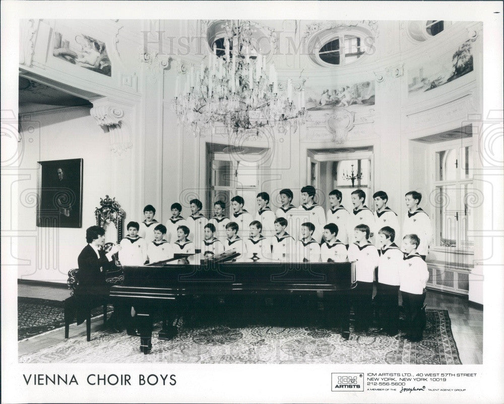 1988 Music Group The Vienna Choir Boys Press Photo - Historic Images