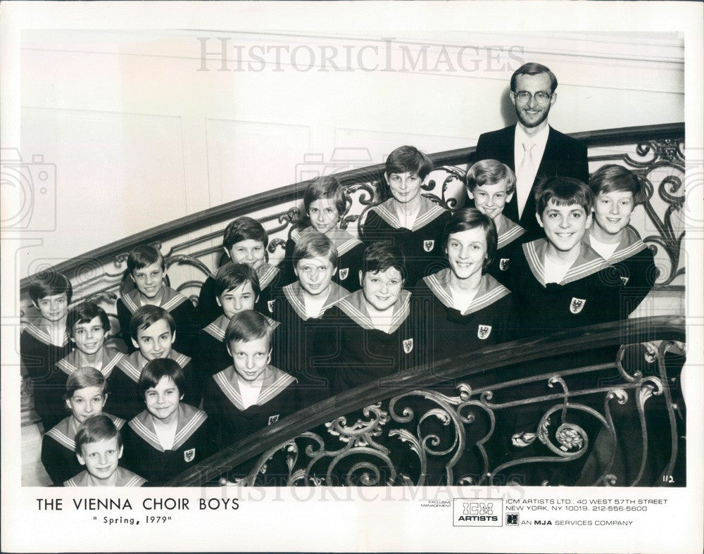1981 Music Group The Vienna Choir Boys Press Photo - Historic Images