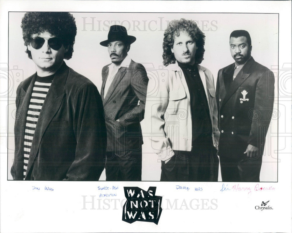 1991 American Electric Pop Music Group Was (Not Was) Press Photo - Historic Images