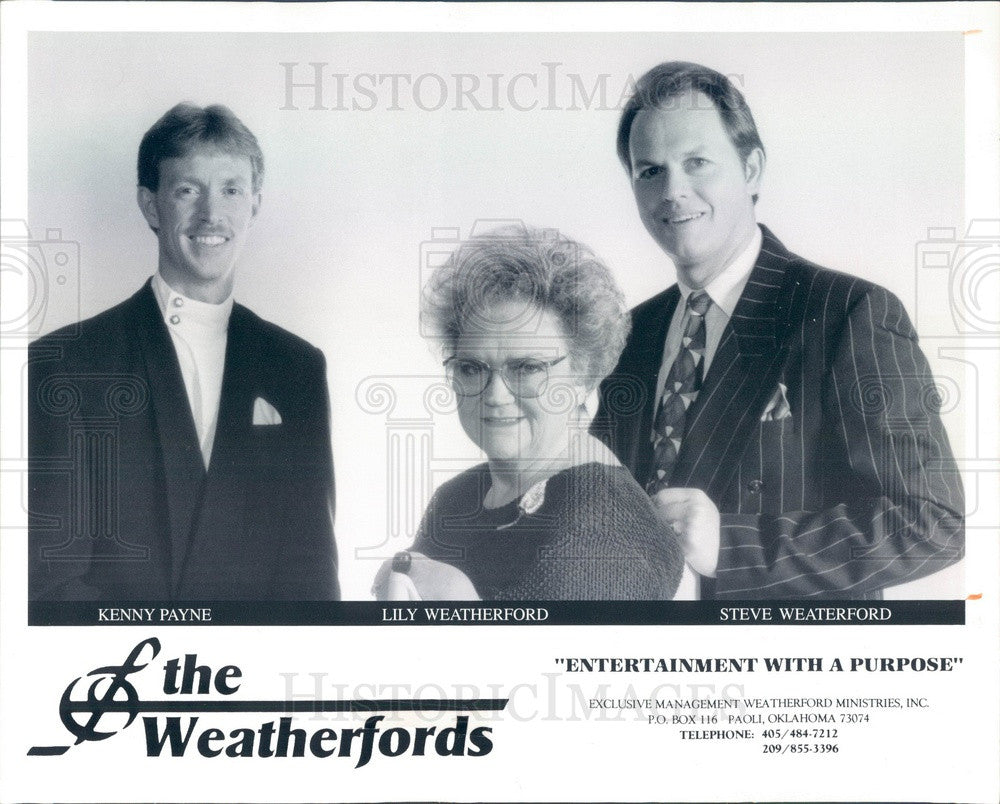 1996 American Gospel Music Group The Weatherfords Press Photo