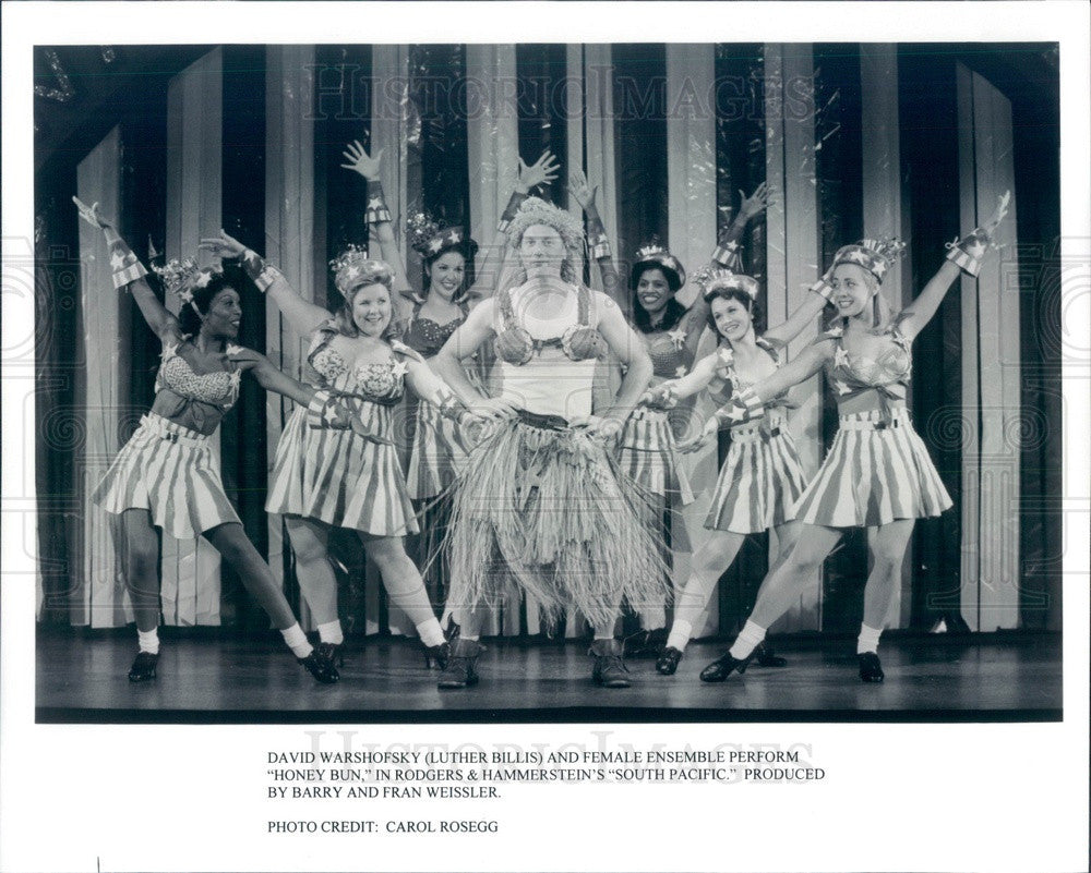 Undated Actor David Warshofsky & Cast of South Pacific Press Photo - Historic Images
