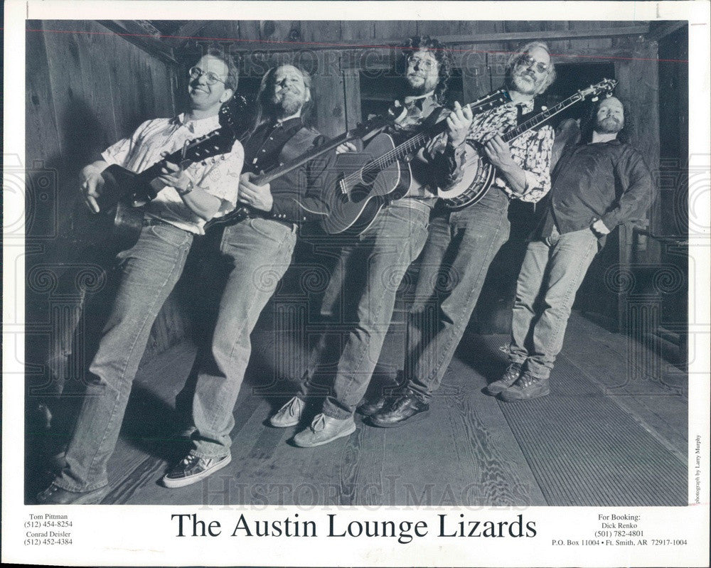 1995 American Country Music Band The Austin Lounge Lizards Press Photo - Historic Images