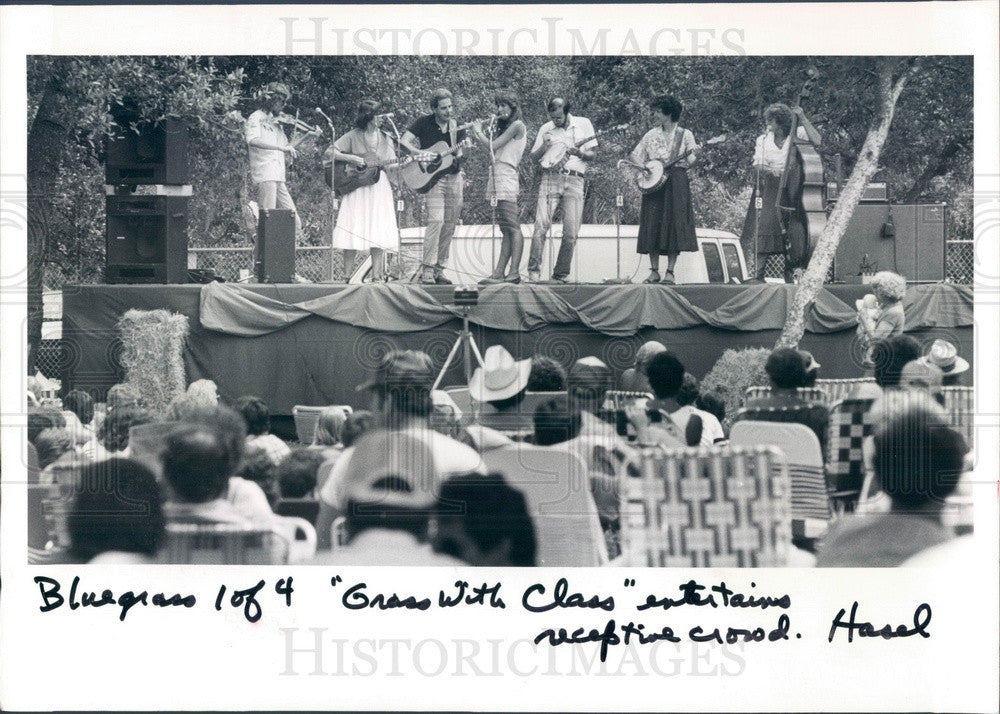 1985 Music Group Grass With Class Press Photo - Historic Images