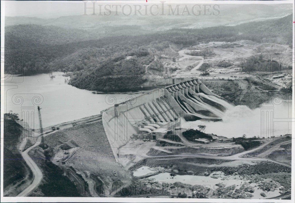 1969 Venezuela, Hydroelectric Dam on Caroni River in Guayana Region Press Photo - Historic Images