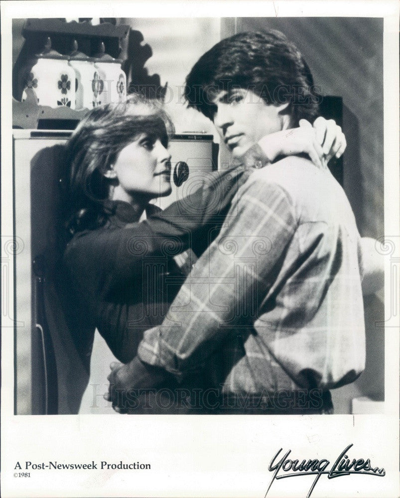 1981 Hollywood Actors Kathy Denney & Rene Lamart Press Photo - Historic Images