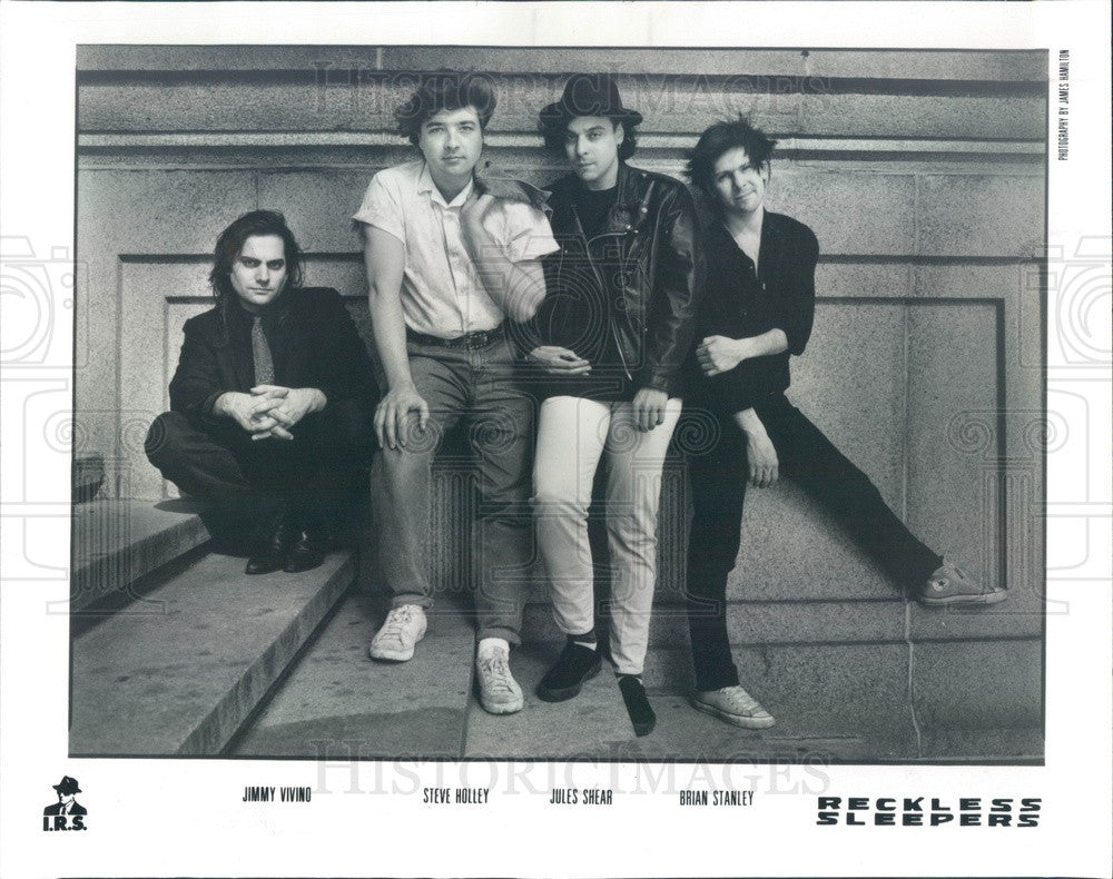 1988 Music Group The Reckless Sleepers Press Photo - Historic Images