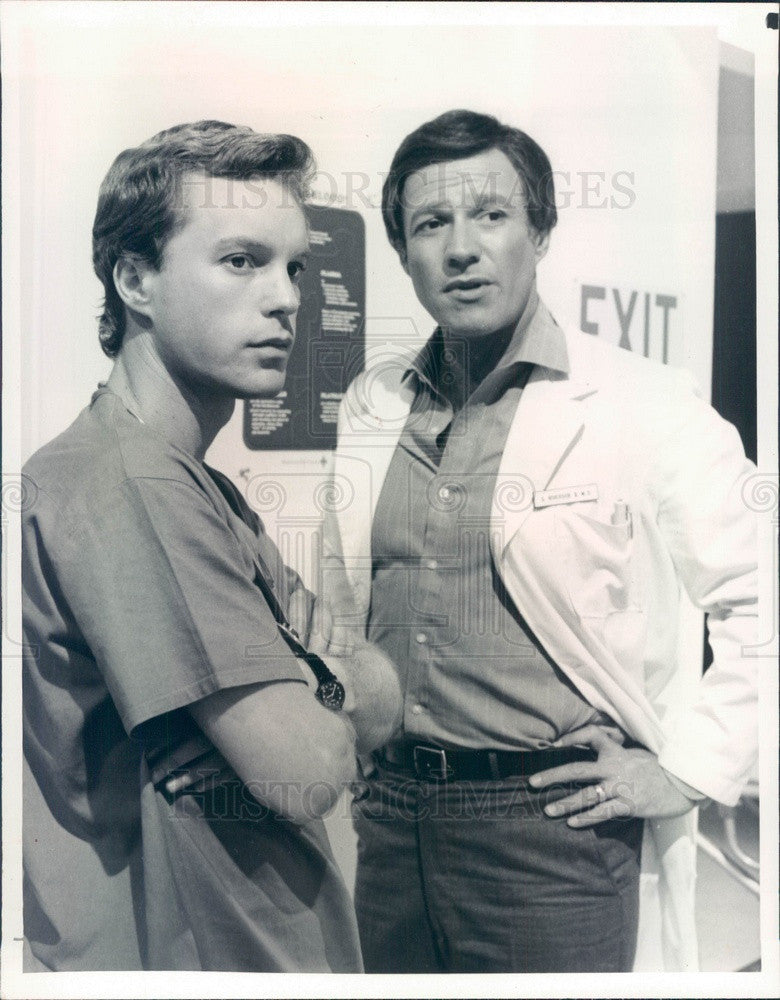 1983 Hollywood Actors Gary Frank & Charles Siebert Press Photo - Historic Images