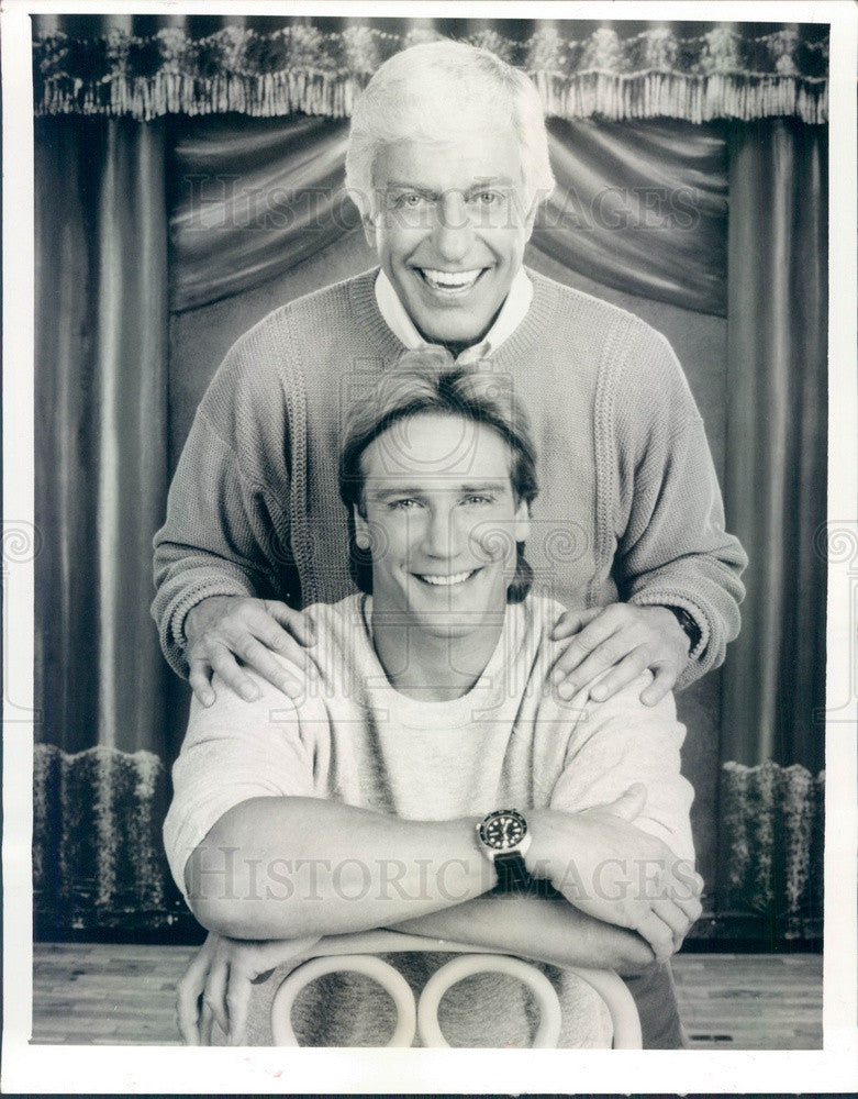1988 Hollywood Actors Dick Van Dyke & Barry Van Dyke Press Photo - Historic Images