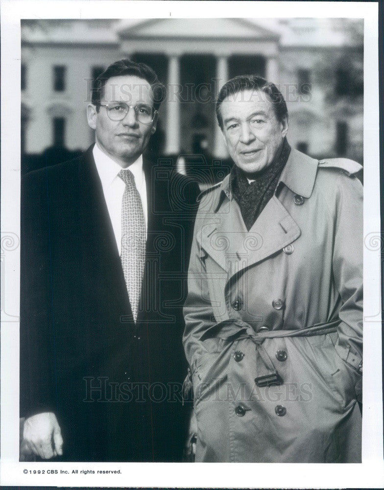 1992 Hollywood Actors Bob Woodward & Mike Wallace Press Photo - Historic Images