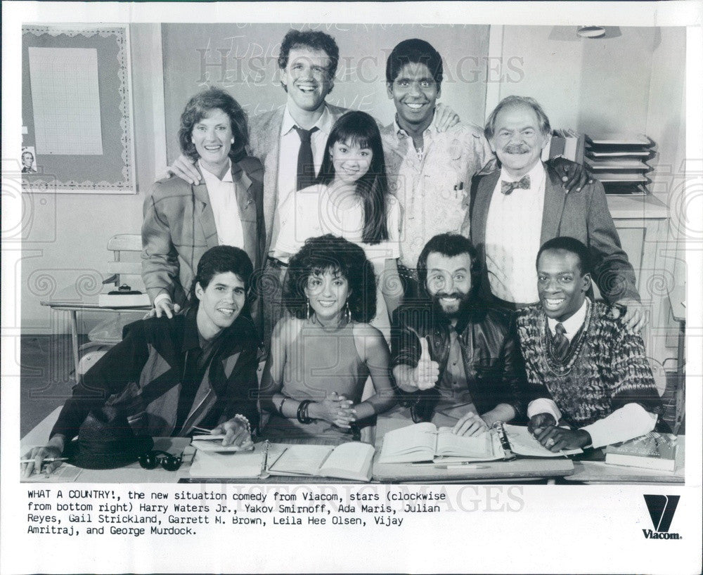 1986 TV Show What A Country Cast Press Photo - Historic Images