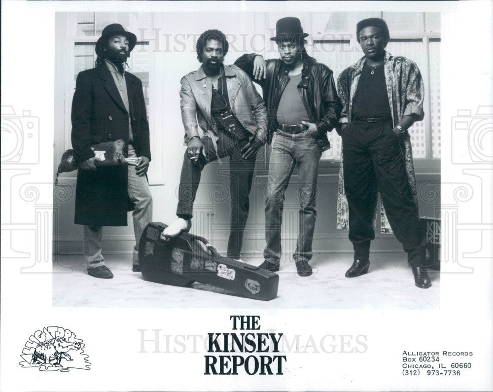 1988 Blues Band The Kinsey Report Press Photo - Historic Images