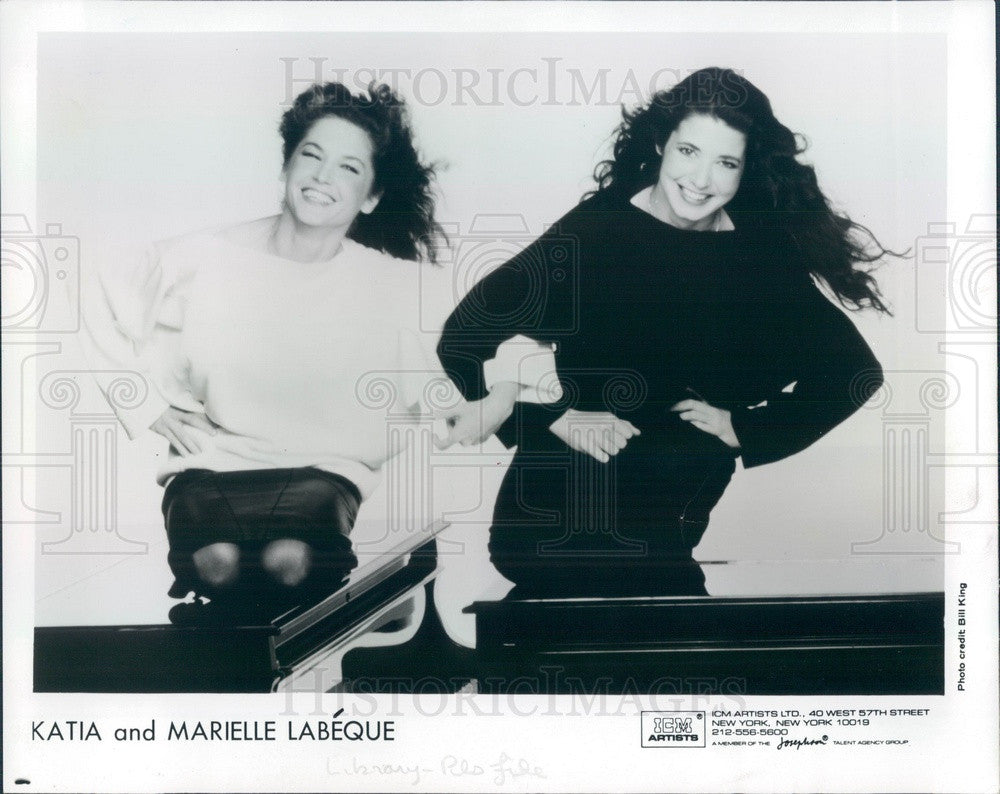 1987 Piano Musical Duo Katia & Marielle Labeque #2 Press Photo - Historic Images