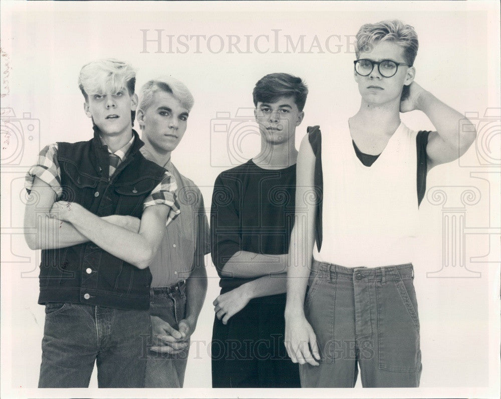 1983 Rock/New Wave Band A New Personality Press Photo - Historic Images