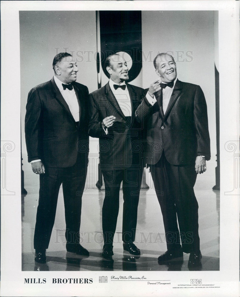 Undated Jazz/Pop Quartet The Mills Brothers Press Photo - Historic Images
