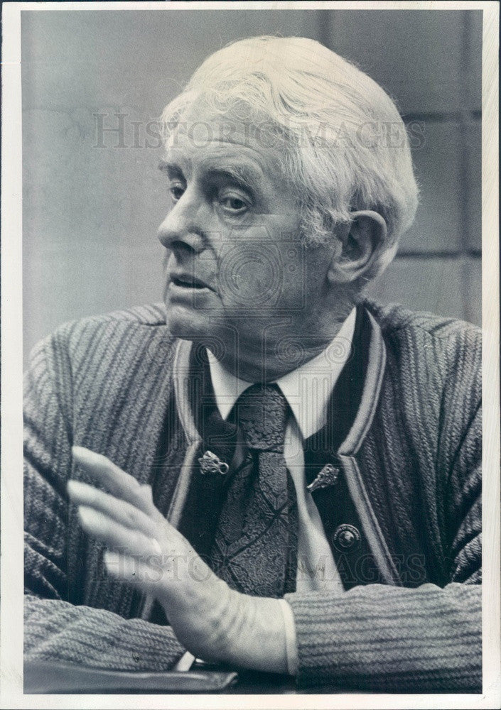 1980 Environmentalist David Brower, Sierra Club Foundation Founder Press Photo - Historic Images