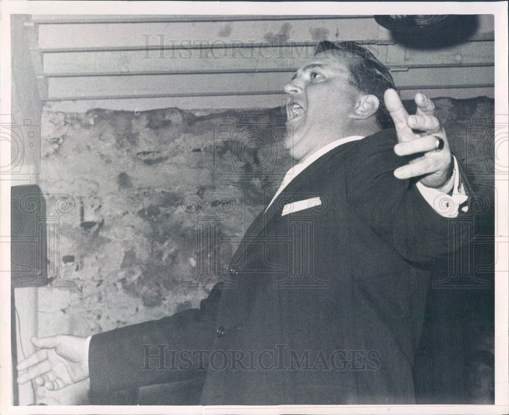 1959 Metropolitan Opera Singer Paul Franke Press Photo - Historic Images