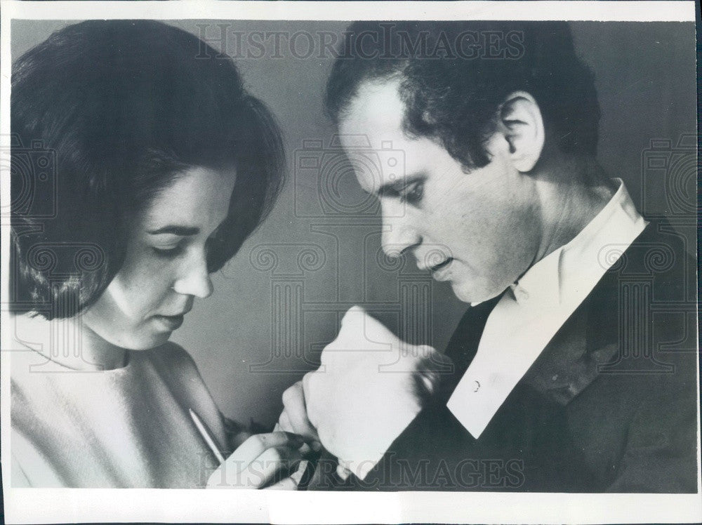 1967 Classical Pianist Malcolm Frager & Wife Press Photo - Historic Images
