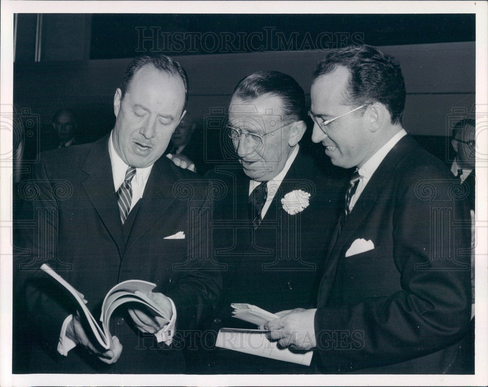 1960 Polio Vaccine Developer Dr. Jonas Salk, Dr. Thomas Francis Jr Press Photo - Historic Images