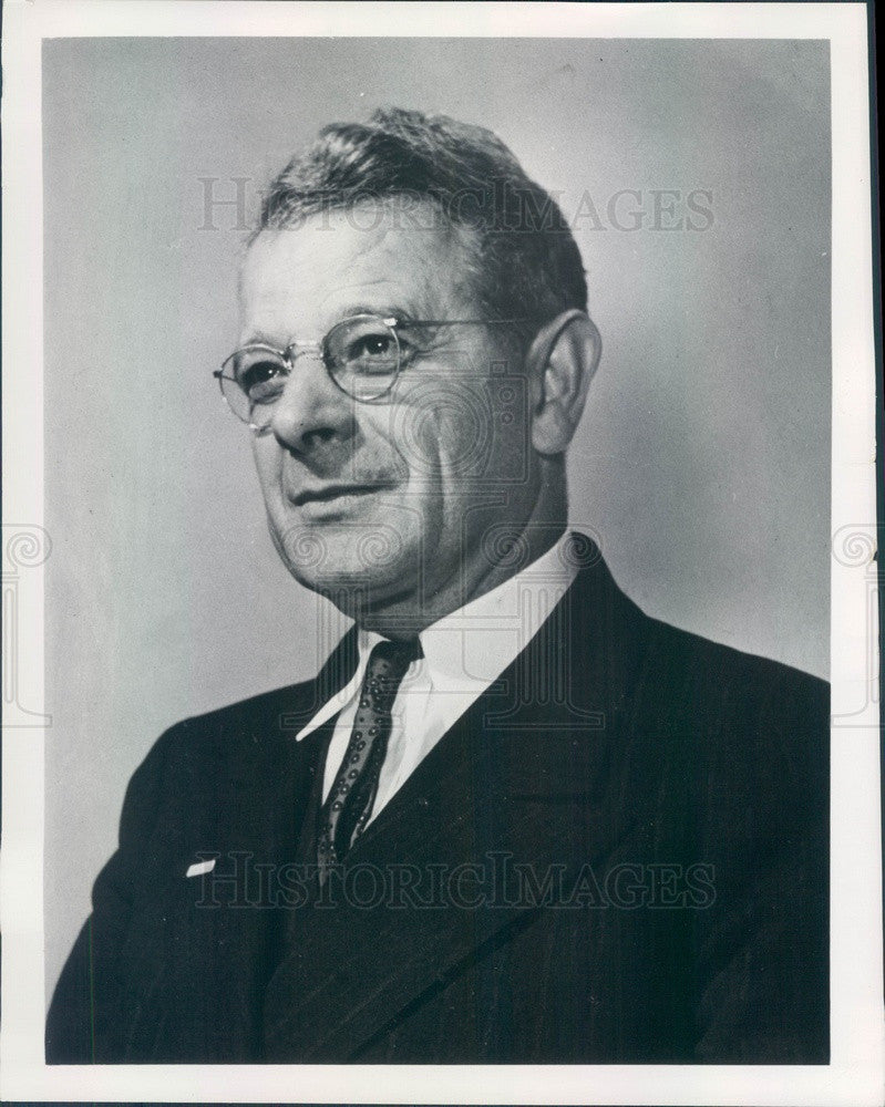 1953 US Labor Leader Sidney Hillman, Amalgamated Clothing Workers Press Photo - Historic Images