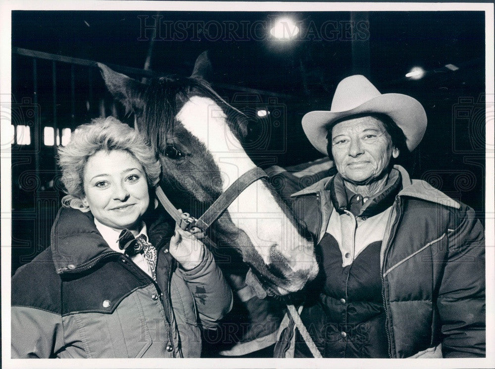 1984 Denver, Colorado Rodeo Rider Shanna Bush & Her Mother Press Photo - Historic Images