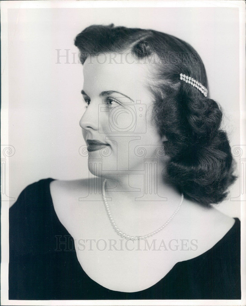 1953 Lakewood, Colorado Soprano Lucille Evans Press Photo - Historic Images