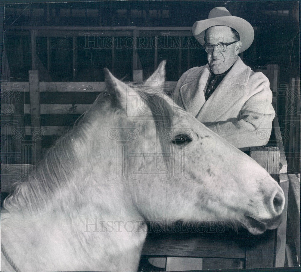 1955 Platteville, Colorado Rodeo Producer Verne Elliott Press Photo - Historic Images
