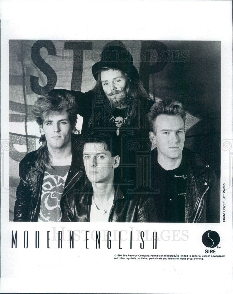 1986 New Wave Band Modern English Press Photo - Historic Images