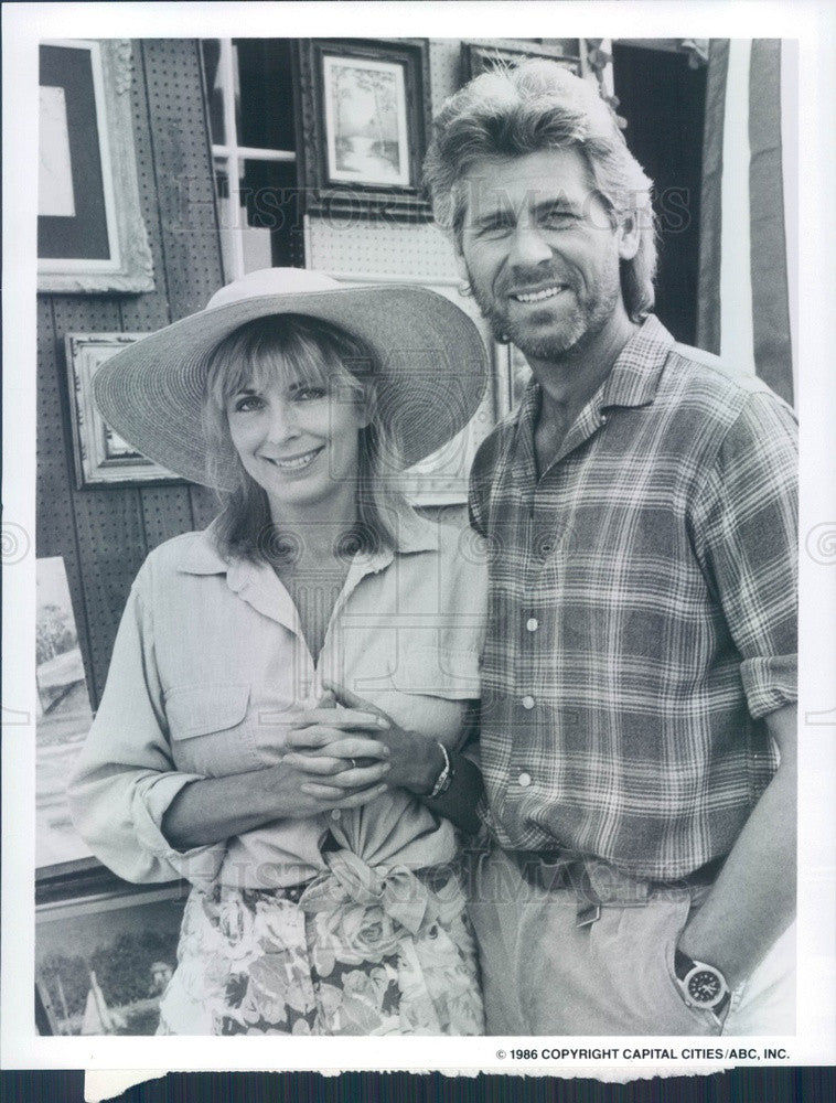 1986 Hollywood Actors Joanna Cassidy & Barry Bostwick Press Photo - Historic Images