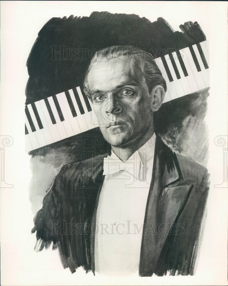 1954 Pianist Malenzynski Press Photo - Historic Images