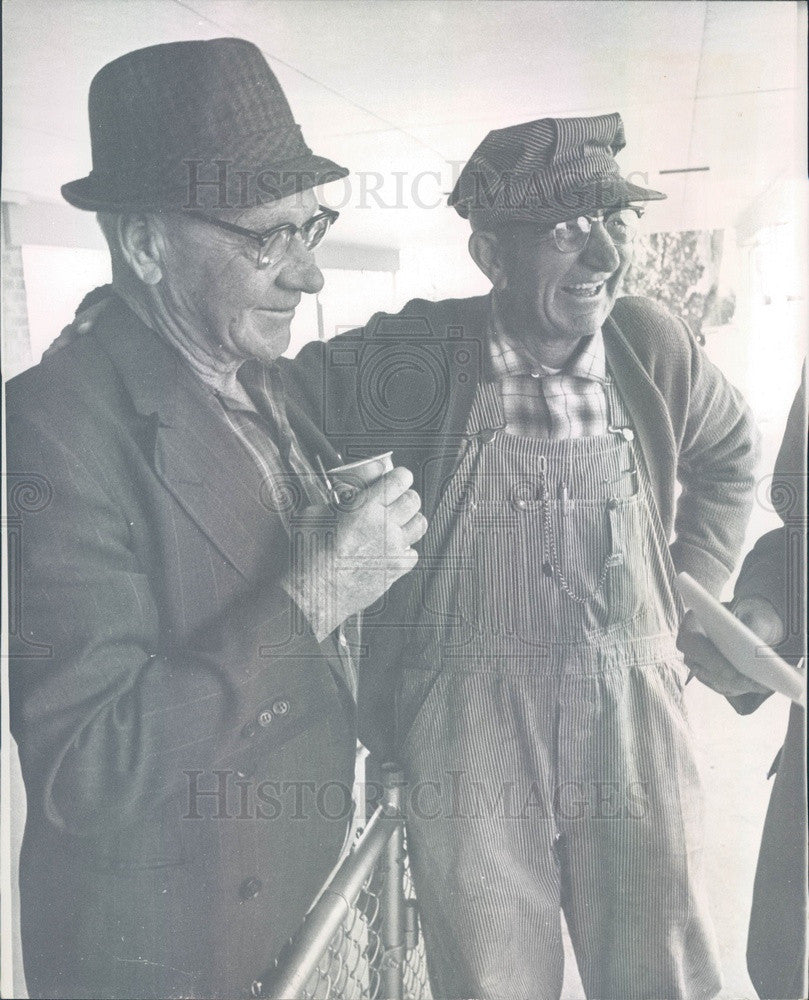 1967 Denver, Colorado City Park Foreman John Hoppas & Carl Carlson Press Photo - Historic Images